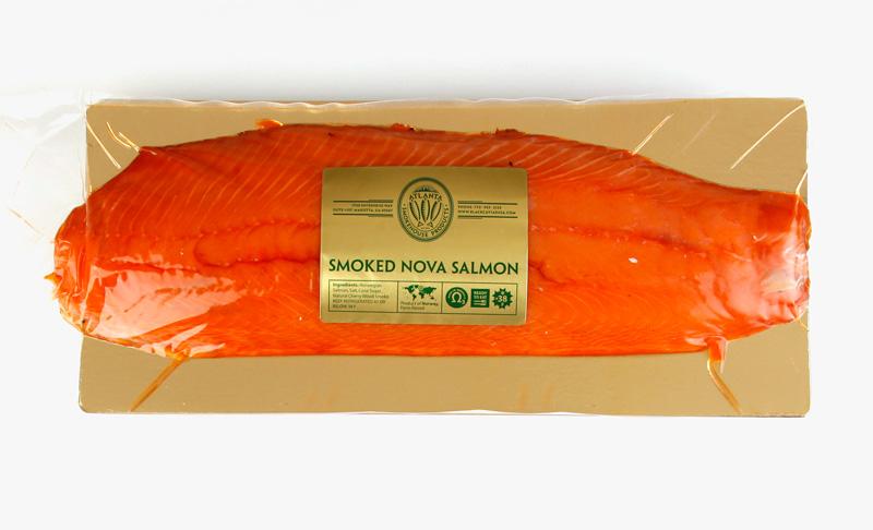 Cold smoked nova salmon sliced 2 5 3 0 lb atlanta for Cold smoking fish